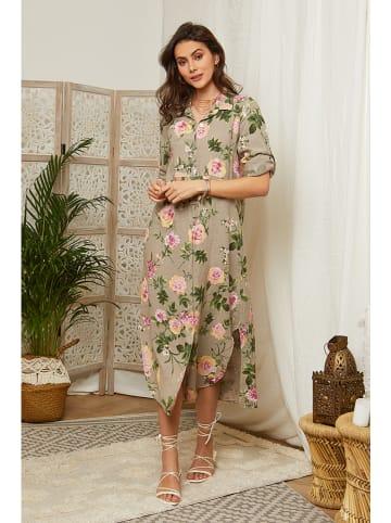 Lin Passion Linnen jurk taupe