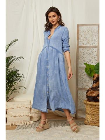 Lin Passion Sukienka w kolorze błękitnym
