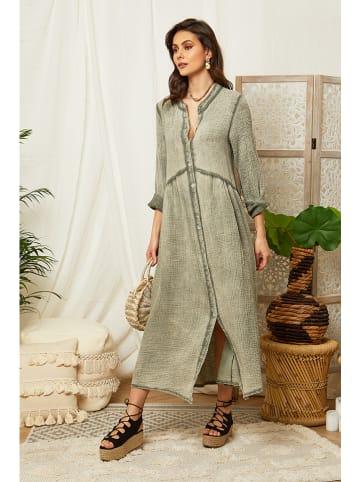 Lin Passion Kleid in Khaki