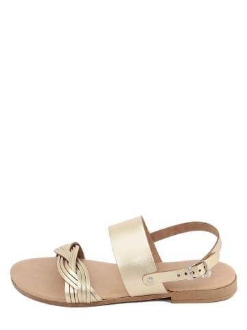 Battini Leder-Sandalen in Gold