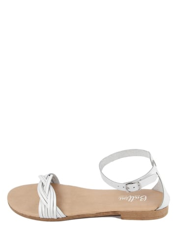 Battini Leren sandalen wit