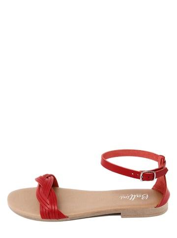 Battini Leder-Sandalen in Rot