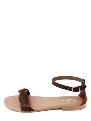 Battini Leren sandalen bruin