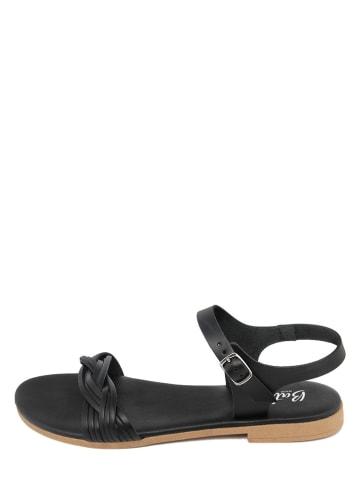 Battini Leder-Sandalen in Schwarz