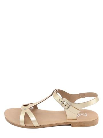 Battini Leren sandalen goudkleurig