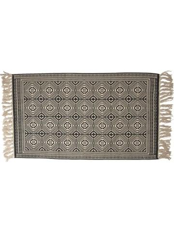 Clayre & Eef Katoenen tapijt zwart/beige - (L)120 x (B)70 cm