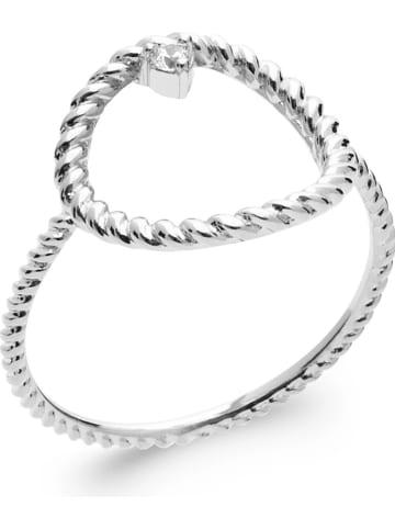 Lucette Zilveren ring met edelsteen