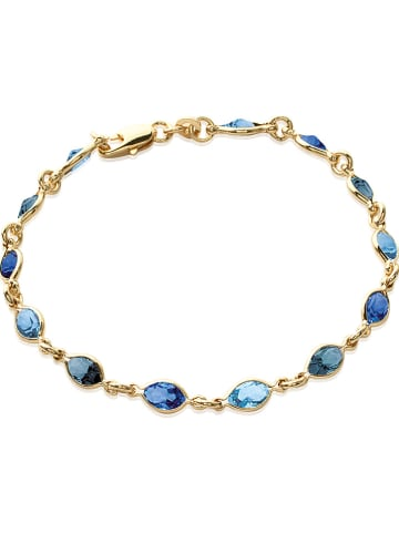 Lucette Vergulde armband met Swarovski-kristallen
