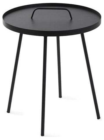 """Lifa Living Stolik """"Marc"""" w kolorze czarnym - wys. 49 x Ø 45 cm"""