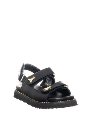 Patrizia Pepe Skórzane sandały w kolorze czarnym