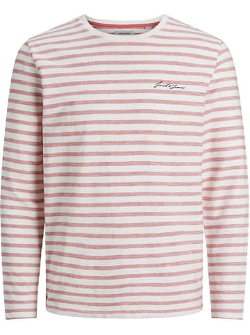 "Jack & Jones Longsleeve ""Stripe"" rood"