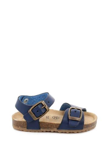 Grünland Leren sandalen blauw