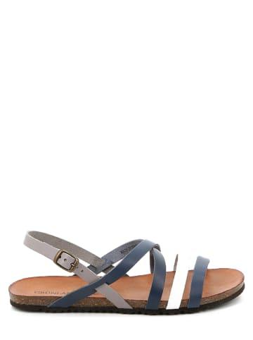 Grünland Leder-Sandalen in Blau