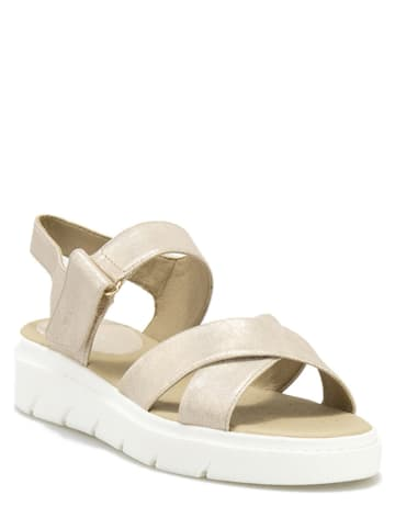 "Geox Leren sandalen ""Tamas"" goudkleurig"