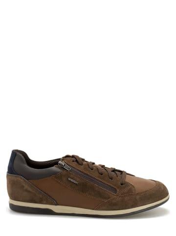 """Geox Leren sneakers """"Renan"""" bruin"""