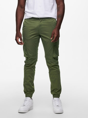 """ONLY & SONS Cargohose """"Cam"""" in Oliv"""