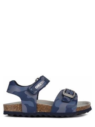 """Geox Sandały """"Chalki"""" w kolorze niebieskim"""