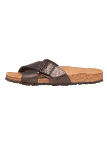 """Birkenstock Leren slippers """"Siena"""" zwart - wijdte S"""