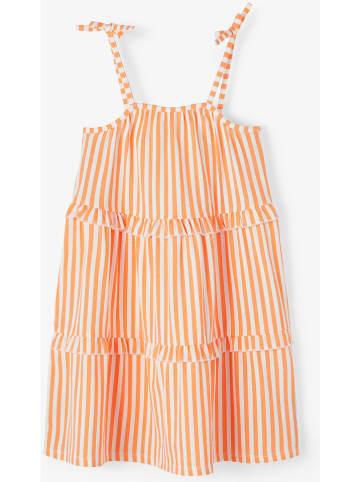 """Name it Sukienka """"Fagmar"""" w kolorze pomarańczowo-białym"""