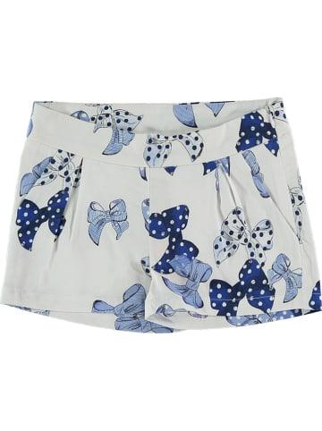 Bimbalina Shorts in Creme/ Blau