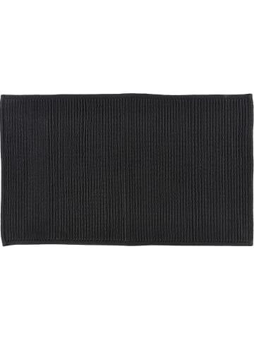"""Soedahl Dywanik łazienkowy """"Plissé"""" w kolorze czarnym - 80 x 50 cm"""