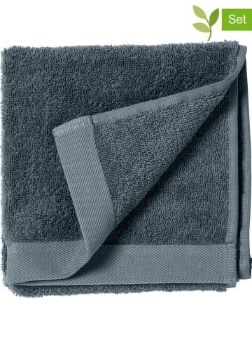"""Soedahl 2-delige set: gastendoeken """"Comfort"""" blauw - (L)60 x (B)40 cm"""