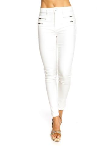 """Saint Germain Paris Jeans """"Frieda"""" - Slim fit - in Weiß"""