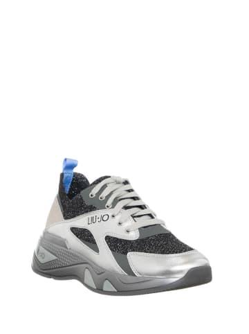 Liu Jo Sneakersy w kolorze srebrnym