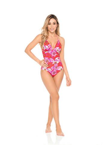 "PHAX swimwear Badpak ""Lotus"" rood/roze"