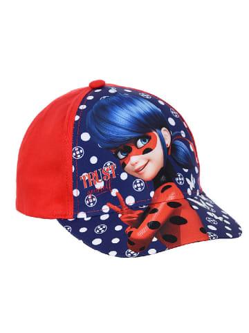 """Miraculous Czapka """"Lady Bug"""" w kolorze niebiesko-czerwonym"""