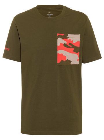 Calvin Klein Koszulka w kolorze khaki