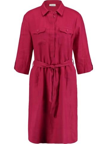 Gerry Weber Lniana sukienka w kolorze czerwonym