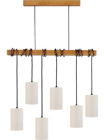 """Tosel Lampa wisząca """"Harlem"""" w kolorze biało-brązowym - 80 x 12 cm"""