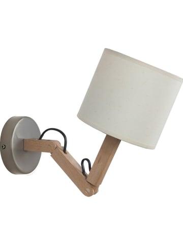 """Tosel Lampa ścienna """"Geri"""" w kolorze kremowo-brązowym - 14 x 45 cm"""