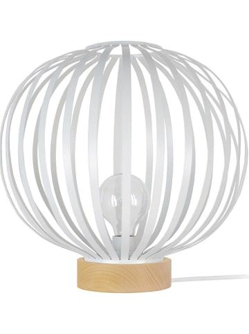 """Tosel Lampa stołowa """"Davos"""" w kolorze białym - wys. 35 cm"""