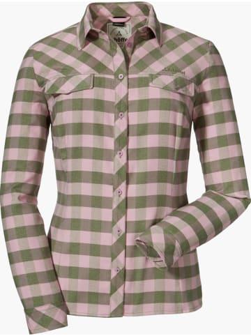 """Schöffel Functionele blouse """"Stralsund"""" lichtroze/kaki"""
