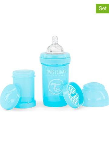 Twistshake 5-delige babyflessenset blauw - 180 ml