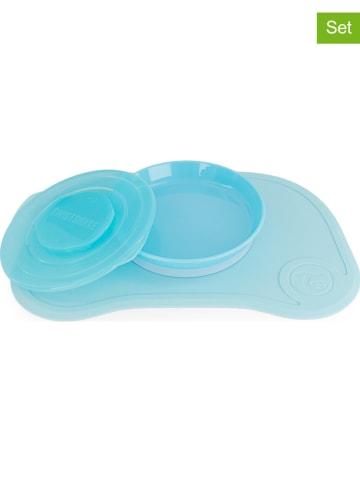 Twistshake 2-delige set: placemat en bord blauw