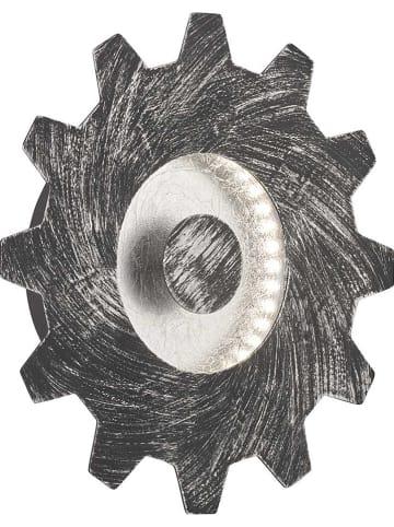 """WOFI Ścienna lampa LED """"Leif"""" w kolorze srebrnym - Ø 20 cm"""