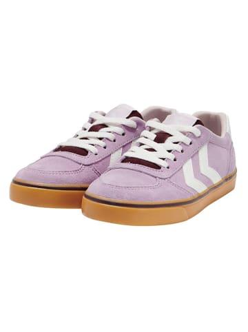 """Hummel Leder-Sneakers """"Stadil 3.0"""" in Flieder"""