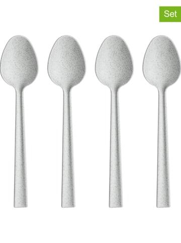 "Koziol 2-delige set: lepels ""Palsby"" grijs - 2x 4 stuks"
