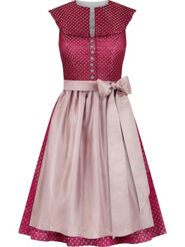 """LIMBERRY Dirndl """"Dahlia"""" in Rot/ Rosa"""
