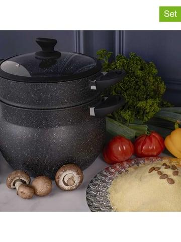 COOK CONCEPT 3-delige set: pan met deksel zilverkleurig - Ø 26 cm