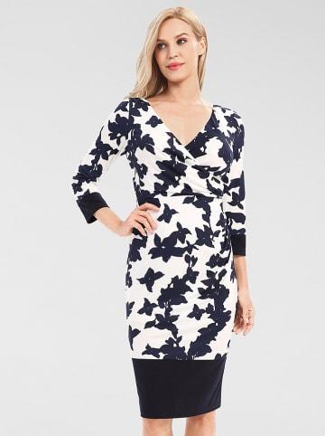 APART Sukienka w kolorze granatowo-białym