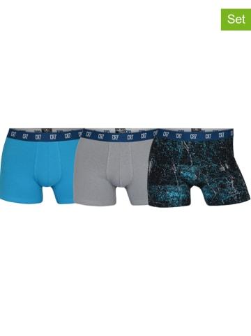 CR7 3-delige set: boxershorts blauw/grijs