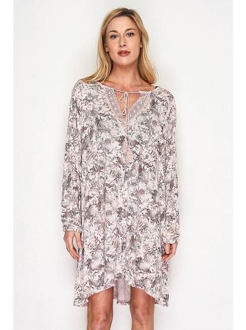 Lacony Linen Kleid in Hellrosa