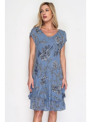 Lacony Linen Kleid in Blau