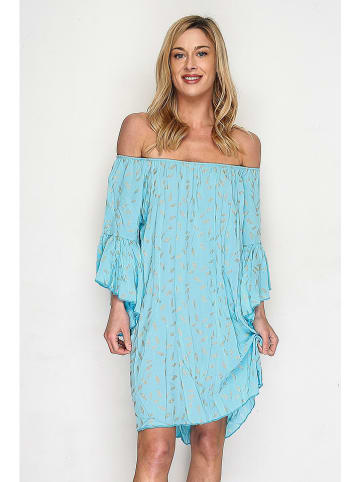 Lacony Linen Kleid in Hellblau