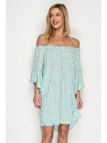 Lacony Linen Kleid in Mint