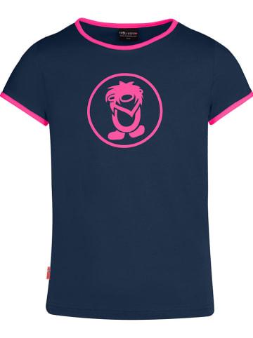 "Trollkids Functioneel shirt ""Kroksand"" donkerblauw"